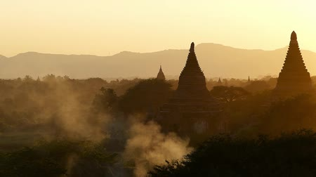 sacred site : Scene from Bagan Myanmar South East Asia temples