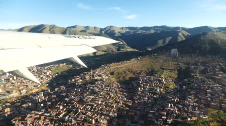 lima : Scene from Peru South America Slow Motion flight from cusco take off