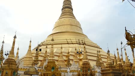 mianmar : Scene from Yangoon Myanmar South East Asia of golden pagoda and religious site