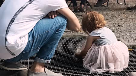 mischief : 4K 30fps of Little Girl Playing In Fountain Daytime at Darmstadt Germany 3840x2160