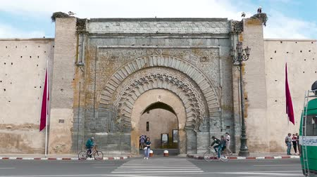 stationary : Bab Er Robb Gate Historic City Walls Tourist Attraction Things to see Marrakesh Morocco