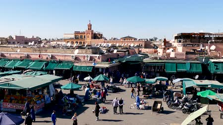fas : Jemaa el-Fna Market Stalls Central Square Souk Shopping Marrakesh Morocco