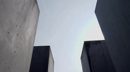 perseguição : Berlin, Germany - March 23, 2019: Footage from Holocaust Memorial Berlin Germany Memorial to the Murdered Jews of Europe