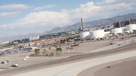solo : Las Vegas, United States - April 19, 2019: Footage of British Airways flight take off from Las Vegas McCarran Airport