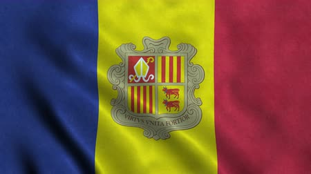 4K Seamless Loopable Flag of Andorra