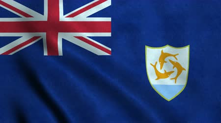 4K Seamless Loopable Flag of Anguilla