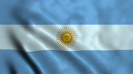 4K Seamless Loopable Flag of Argentina