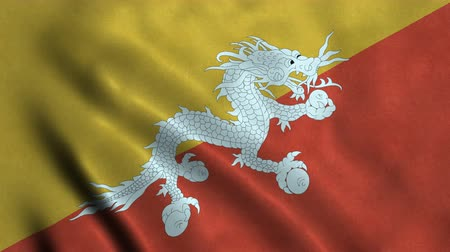 bhutan : 4K Seamless Loopable Flag of Bhutan