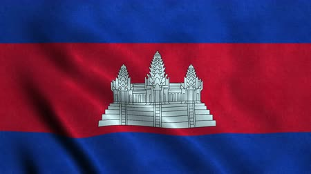 4K Seamless Loopable Flag of Cambodia