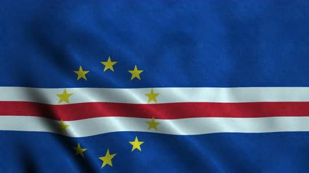 4K Seamless Loopable Flag of Cape Verde