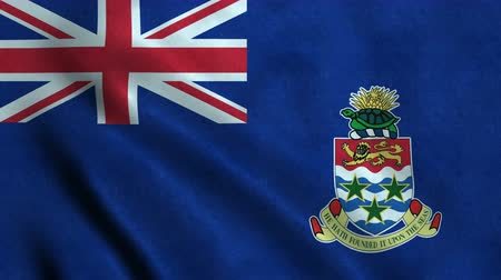 4K Seamless Loopable Flag of Cayman Islands