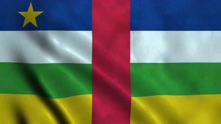 4K Seamless Loopable Flag of Central African Republic