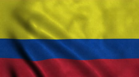 4K Seamless Loopable Flag of Colombia Stock mozgókép
