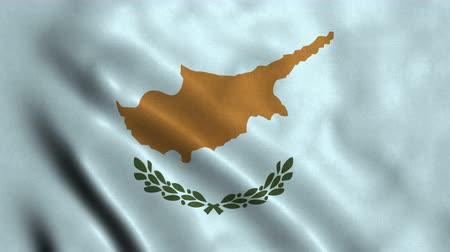 4K Seamless Loopable Flag of Cyprus