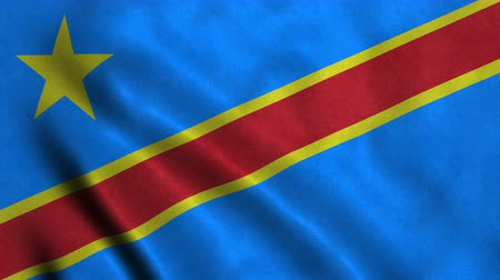 4K Seamless Loopable Flag of Democratic Republic of the Congo