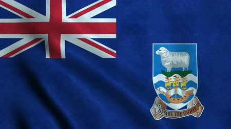 4K Seamless Loopable Flag of Falkland Islands