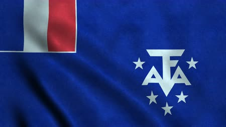 4K Seamless Loopable Flag of French Southern and Antarctic Lands