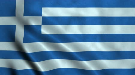 4K Seamless Loopable Flag of Greece
