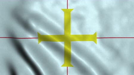 4K Seamless Loopable Flag of Guernsey