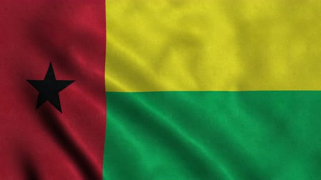 gine : 4K Seamless Loopable Flag of Guinea Bisseau