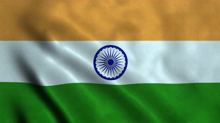 bandiera : 4K Seamless Loopable Flag of India