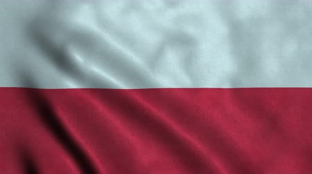 bandeira : 4K Seamless Loopable Flag of Poland