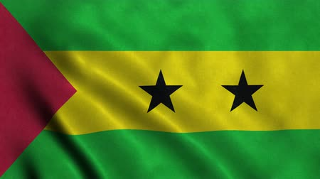 tome : 4K Seamless Loopable Flag of Sao Tome and Principe Stock Footage