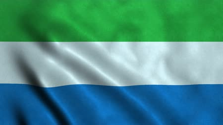 sierra leone flag : 4K Seamless Loopable Flag of Sierra Leone