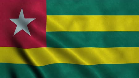 seqüência : 4K Seamless Loopable Flag of Togo