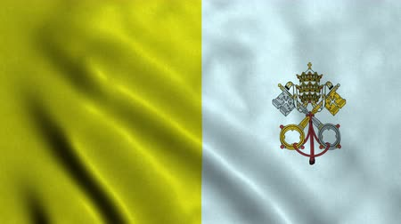 papa : 4K Seamless Loopable Flag of Vatican City
