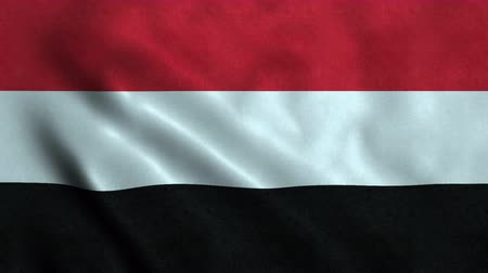 yemen : 4K Seamless Loopable Flag of Yemen