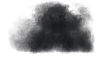 bombardment : Smoke Blast on white background