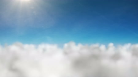 надеяться : The camera flies slowly over the clouds and the sky, Ideal background, Animation.