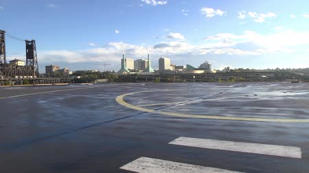 heliport : Pan shot of heliport platform