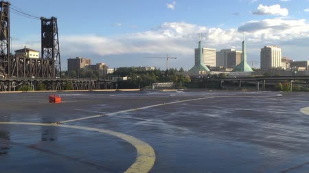 heliport : View from heliport platform Stock Footage
