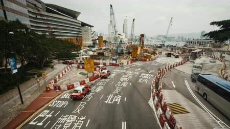 Time-lapse of busy road in Hong Kong