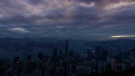 Time-lapse of Hong Kong from The Peak