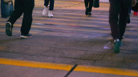 Pedestrian crossing the street
