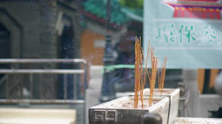 Joss sticks burning at Wong Tai Xin temple, Hong Kong