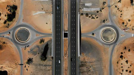 rota : Highway road through the desert aerial footage view