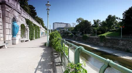 stadtpark : The historic City Park Vienna with the Vienna River