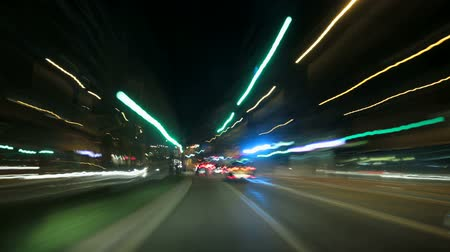 night scene : A time lapse driving to the city center in Barcelona.  Three different shutter speeds to suit your project. Gorgeous, high-energy city and roads time lapse.  Good for a video background. Great for any driving, corporate, city or urban ideas.