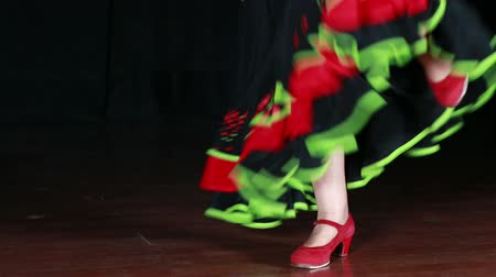 испанский : Spanish Dance.  Typical Spanish dance with colorful clothes and shoes. Flamenco and sevillanas dress. Spanish folklore and traditions. Traditional dancer dress.