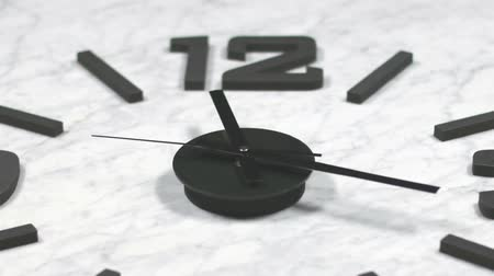 clock hands : Clock Fast Time Lapse Moving Forward Zoomed.  Clock ticking accelerated time. High Speed countdown timer. Time flies moving fast forward in this time lapse. Clock face running out in high speed. Timelapse ticks fast forward moving.