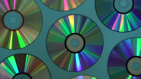 romênia : Vintage CD or DVD disk background, old circle discs used for data storage, share movies and music