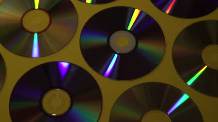 compact disc : Vintage CD or DVD disk background, old circle discs used for data storage, share movies and music