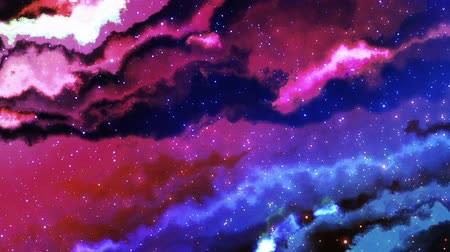 gömbölyű : Universe Galaxy Background Stock mozgókép