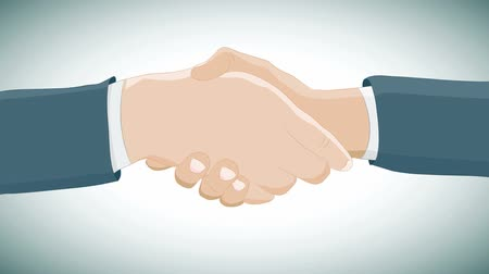 tratar : Footage of a handshake business deal.