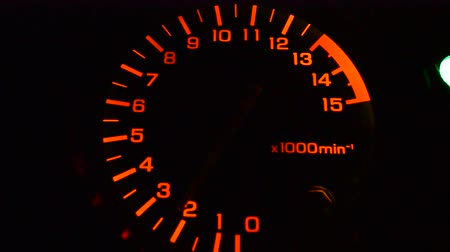 rpm : An automobile tachometer.