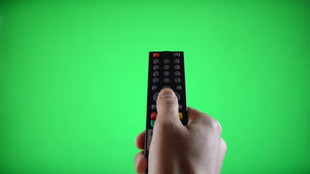 polegar : Remote Control Television changing one channel with Chroma Key Green Screen